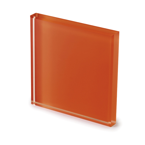 Extralight glass lacquered rust