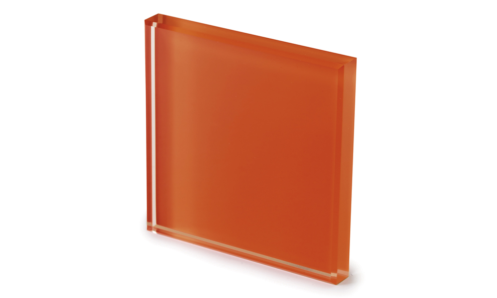 Extralight glass lacquered rust -dettaglio