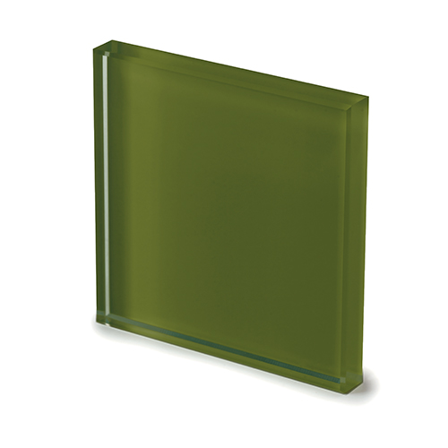 Extralight glass lacquered moss green