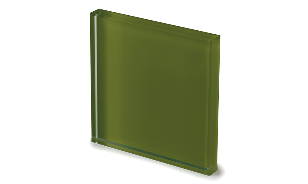 Extralight glass lacquered moss green -dettaglio