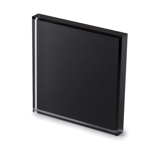 Extralight glass lacquered black