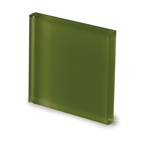 Frosted moss green glass -elenco