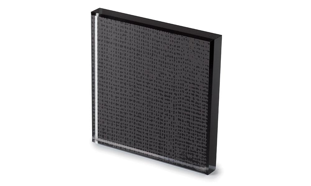 Net glass laccato nero -dettaglio