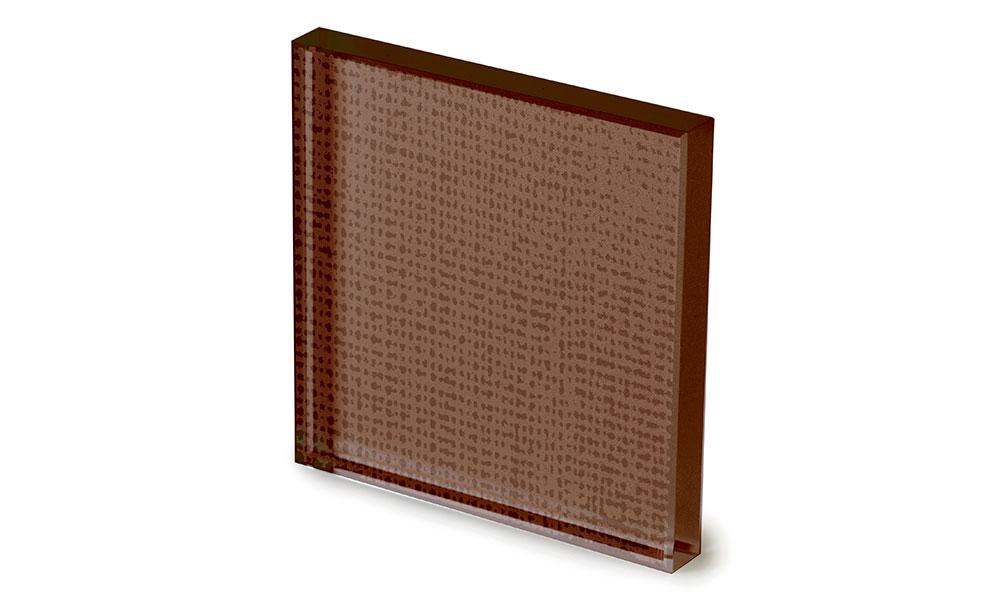 Net glass laccato color tabacco -dettaglio