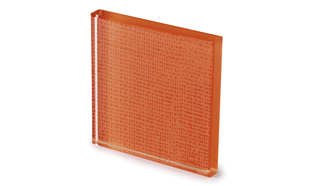 Net glass laccato color ruggine -dettaglio