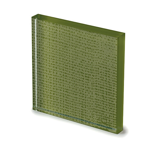 Net glass lacquered moss green -elenco