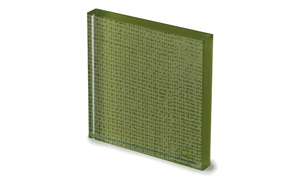 Net glass laccato color muschio -dettaglio