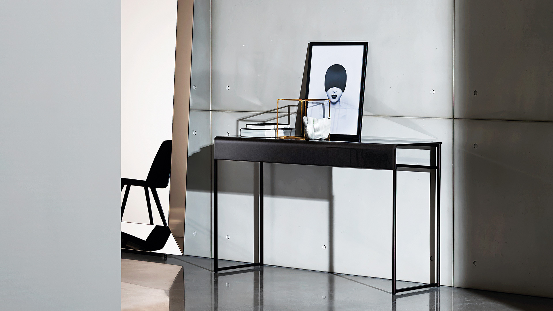 Consolle O Console.Nido Design Console In Glass And Metal Sovet