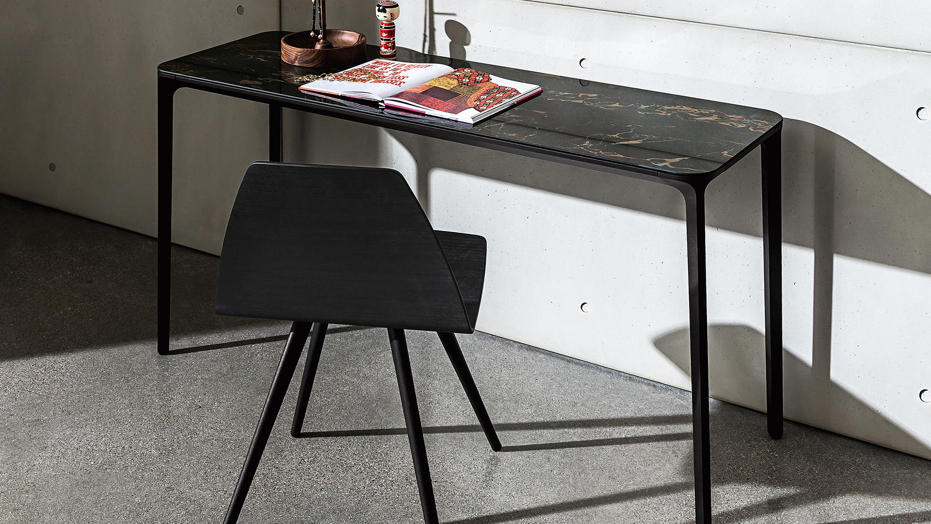 Slim Consolle Per Interni In Alluminio E Top In Vetro Legno O Ceramica Sovet