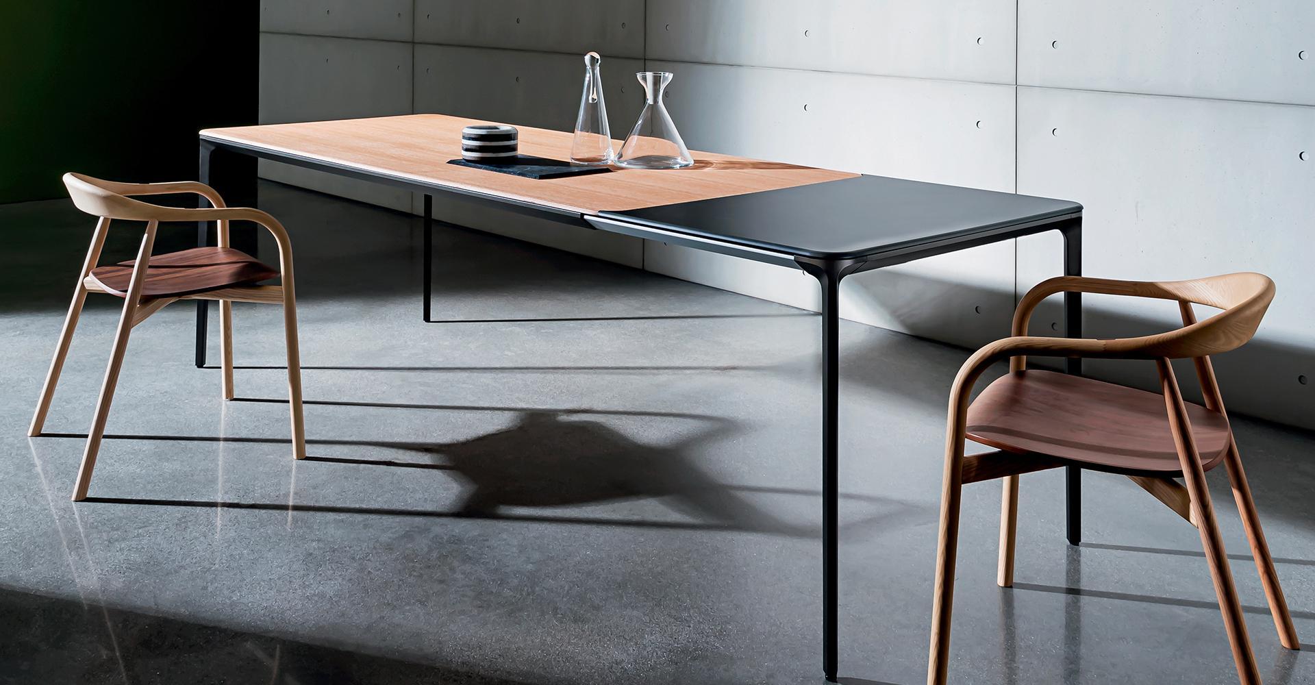 Ceppo Di Legno Tavolino slim extensible | dining table extensible for interiors - sovet